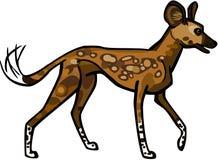 Африканская одичалая собака иллюстрация вектора