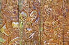 Африканская древесина высекая дизайн Стоковые Фотографии RF
