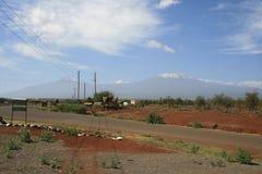 Африканская саванна, Amboseli, рядом с Mt kilimanjaro Стоковые Фотографии RF