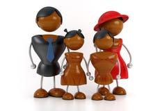 Африканская семья стоковая фотография rf