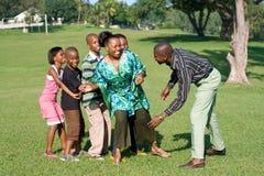 африканская семья Стоковое Изображение