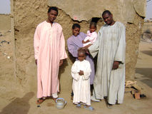 африканская семья Стоковое Изображение RF