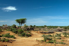 Африканская соплеменная хата Стоковое фото RF
