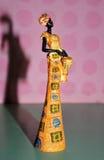 Африканская статуя женщины Стоковые Изображения RF