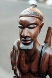 африканская статуя охотника Стоковое фото RF