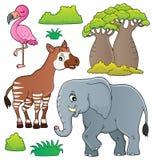 Африканская тема природы установила 4 бесплатная иллюстрация