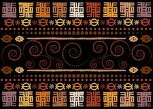 Африканская ткань печати, старый этнический handmade орнамент для ваших геометрических элементов дизайна, этнических и племенных  иллюстрация вектора