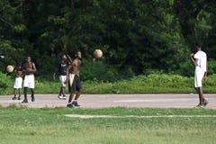 Африканская тренировка баскетбола Стоковое Изображение