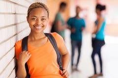 Африканская ученица колледжа стоковое фото