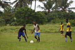 Африканская футбольная команда во время тренировки Стоковое Изображение