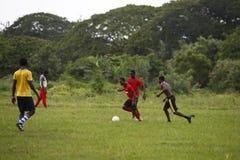Африканская футбольная команда во время тренировки Стоковое Изображение RF