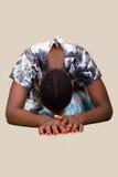 африканская христианская женщина Стоковое фото RF