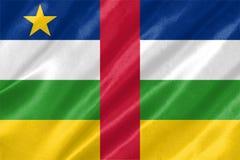 африканская центральная республика флага стоковое изображение rf