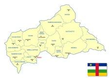 африканская центральная республика карты Стоковые Фото