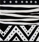 африканская черная белизна конструкции Стоковое Изображение RF