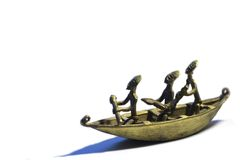 африканская шлюпка Стоковое Изображение RF