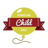 Африканская эмблема приветствию дня ребенка Стоковые Изображения RF
