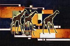 Африканская этническая ретро винтажная иллюстрация Стоковое фото RF