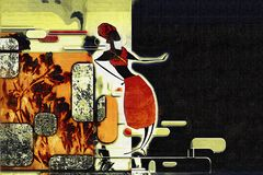 Африканская этническая ретро винтажная иллюстрация Стоковая Фотография RF