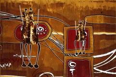 Африканская этническая ретро винтажная иллюстрация Стоковые Изображения RF