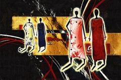 Африканская этническая ретро винтажная иллюстрация Стоковое Изображение RF