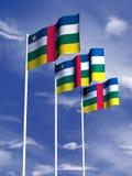 африканская cenral республика флага Стоковое фото RF