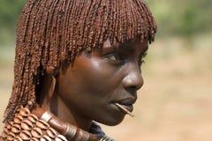 африканская hamar женщина стоковое изображение rf
