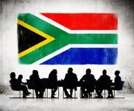 Африканские бизнесмены имея встречу Стоковые Изображения RF