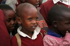 Африканские дети на школе, Танзании Стоковые Изображения