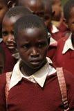 Африканские дети на школе, Танзании Стоковое фото RF