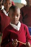 Африканские дети на школе, Танзании Стоковые Фотографии RF