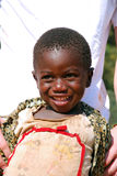Африканские дети страдая от вируса СПИДА в деревне Pom Стоковое Изображение RF