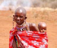 африканские женщины Кении неопознанные Стоковые Фото