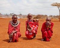 африканские женщины Кении неопознанные Стоковые Фотографии RF
