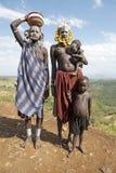 Африканские женщины с дет Стоковое Изображение RF