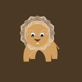 африканские животные Маленькая жизнерадостная игрушка льва Стоковое Изображение
