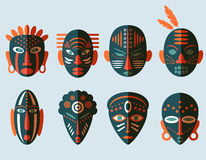 Африканские значки маски Стоковое Фото