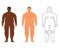 Африканские и европейские люди Шарж, стиль плана людск иллюстрация штока