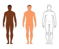 Африканские и европейские люди Шарж, стиль плана людск бесплатная иллюстрация