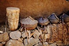 Африканские корзины - Эфиопия стоковая фотография