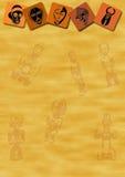 африканские маски предпосылки иллюстрация вектора