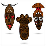 африканские маски Стоковые Фото