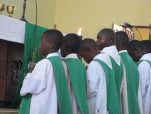 Африканские мальчики клироса Стоковые Фото