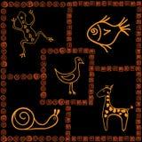 Африканские мотивы Иллюстрация вектора