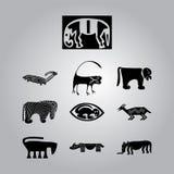 Африканские национальные установленные орнаменты Стоковое Фото