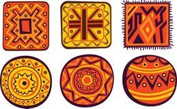 африканские орнаменты Стоковые Фотографии RF