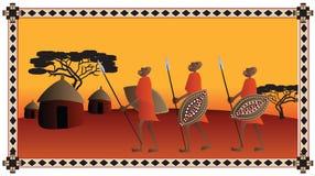 Африканские ратники Стоковые Фотографии RF