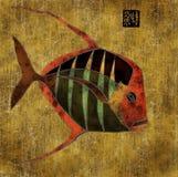 африканские рыбы коллажа иллюстрация штока