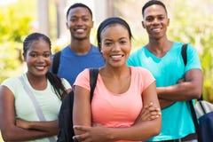Африканские студенты колледжа стоковое изображение