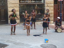 африканские танцоры Стоковые Фотографии RF